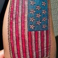 Tailored american flag qualitative tattoo