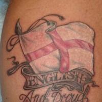 English and proud patriotic tattoo