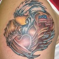 Humanized patriotic usa eagle tattoo