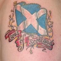 Sons of scotland patriotic tattoo