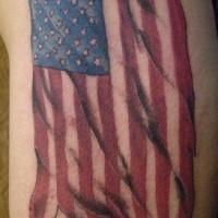 Ragged american flag tattoo