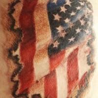 Patriotic usa state tattoo