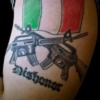 Italian flag american army tattoo