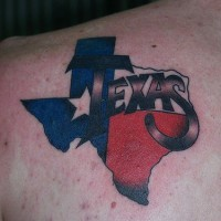 Patriotic texas state tattoo