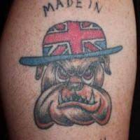 Made in britain bulldog tattoo