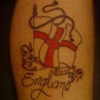 England flag coloured tattoo