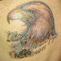 Crying eagle usa 911 tattoo