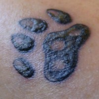 Paw print tattoo for animal friends