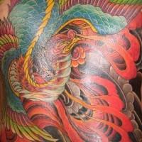 Fenice detagliato colorato tatuaggio