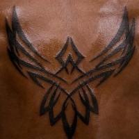 Fenice semplice tribale tatuaggio