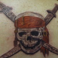 Pirates of the caribbean skull tattoo