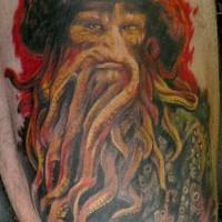 Davy Jones film tatuaggio detagliato