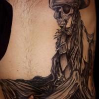 Pirate dead man tattoo