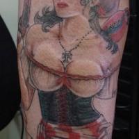 Sexy pirate wench tattoo