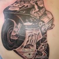 Ducati racing bike tattoo