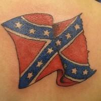 Confederate flag tattoo