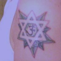 Hindu jewish symbols tattoo