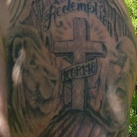 Redemption religious memorial tattoo