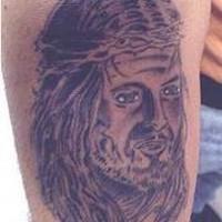 Jesus portrait lame tattoo