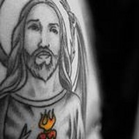 Jesus and sacred heart tattoo