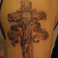 Crucifixion love and forgive tattoo