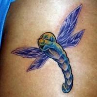 Surrealistisches buntes Insekt Tattoo