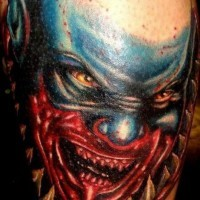 Monster from scary movie tattoo