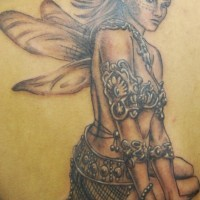 Shoulder tattoo, beautiful, brave fairy styled