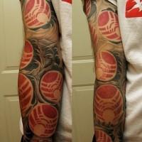 Bunch of death stars tattoo