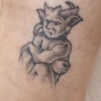 Small sitting gargoyle tattoo