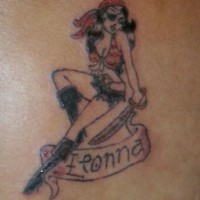 Small pirate wench fionna tattoo