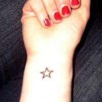 Small star tattoo on wrist