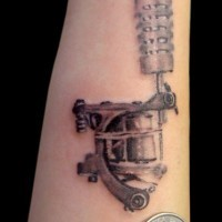 Realistic tattoo machine tattoo