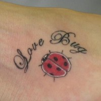 Love bug little ladybug tattoo