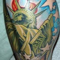 Usa patriotic statue of liberty tattoo