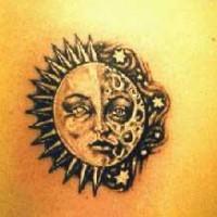 High quality sun and moon tattoo