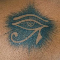 Highly detailed eye of horus tattoo