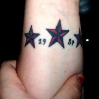 Nautical stars memorial tattoo
