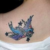 Straight edge sparrow tattoo