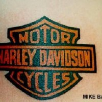 Harley davidson logo tattoo