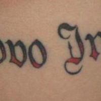 Calligraphy tattoo in italian