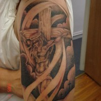 Tattoo of jesus on cross