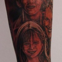 Family portrait sleeve tattoo