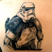 Il tatuaggio di stormtrooper dell'Impero