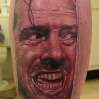 Here's johnny faccia tatuaggio