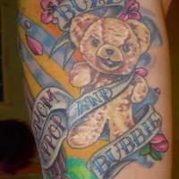orsacchiotto con strisci tatuaggio