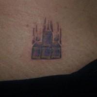 Tetris tattoo on ass