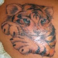 Cute tiger cub tattoo