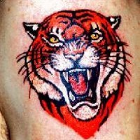 Lush angry tiger tattoo