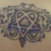Le tatouage de bande musicale Him